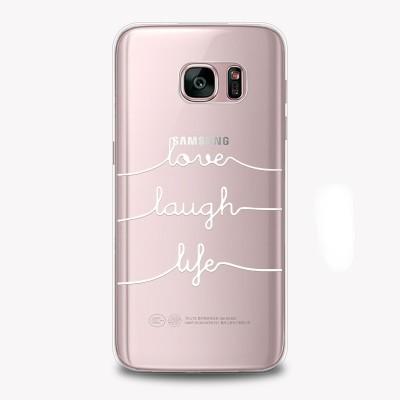 "Husa Samsung Galaxy S8 ""LOVE LAUGH LIFE"""