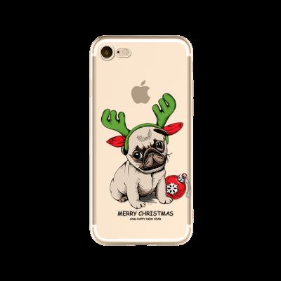 """Husa iPhone 7 / iPhone 8  """"CHRISTMAS PUG"""""""