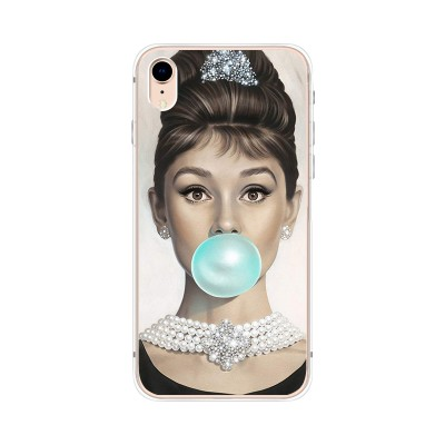 Husa iPhone XR Silicon Premium AUDREY HEPBURN BALLOON