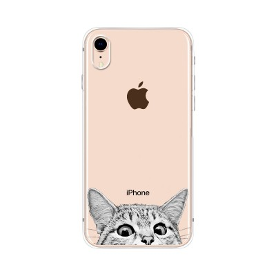 Husa iPhone XR Silicon Premium CURIOUS CAT