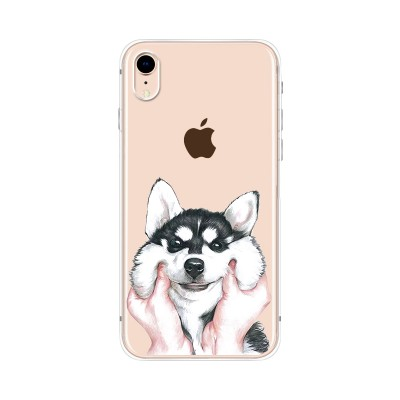 Husa iPhone XR Silicon Premium FLUFFY HUSKY