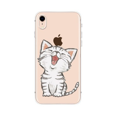 Husa iPhone XR Silicon Premium HAPPY KITTY