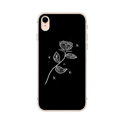 Husa iPhone XR Silicon Premium LONELY ROSE