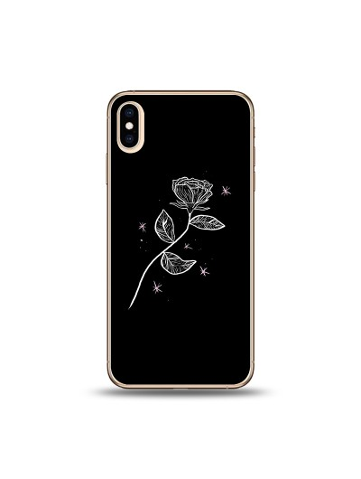 Husa iPhone Xs MAX Silicon Premium LONELY ROSE