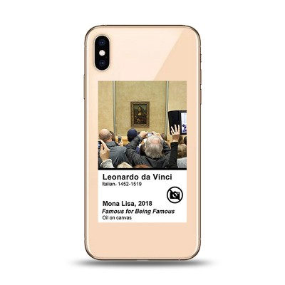 Husa iPhone Xs MAX Silicon Premium MONA LISA