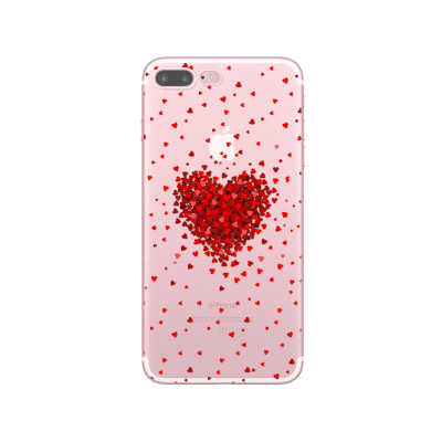 "Husa iPhone 7Plus / iPhone 8Plus ""RED LOVE"""