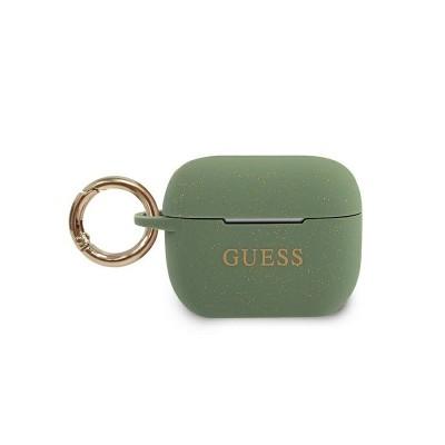 Husa Protectie Originala Guess Compatibila Cu Airpods Pro Colectia Silicone Glitter Kaki