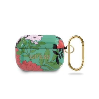 Husa Protectie Originala Guess Compatibila Cu Airpods Pro Colectia Floral Verde