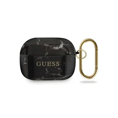 Husa Protectie Originala Guess Compatibila Cu Airpods Pro Colectia Marble ,Negru