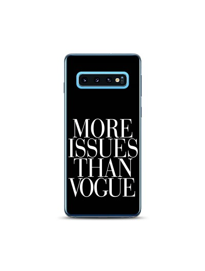 Husa Samsung Galaxy S10 Silicon Premium MORE ISSUES THAN VOGUE