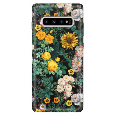 Husa Samsung Galaxy FLOWERS - YELLOW