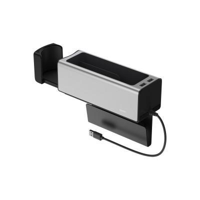 Organizator Masina Baseus 2 X Usb Cu Incarcare Telefon ,suport Pahar