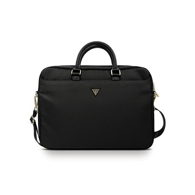 Husa Geanta Premium Originala Guess Laptop / Macbook 15-16 Inch Negru Triangle Logo