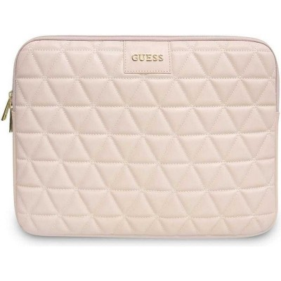 Husa Originala Guess Sleeve Diamond Leather Compatibila Cu Laptop/macbook Pro/air 13inch, Roz