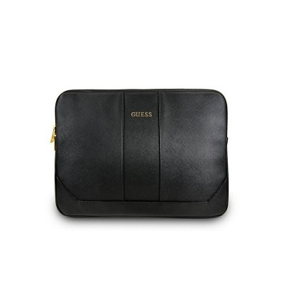 Husa Originala Guess Sleeve Saffiano Compatibila Cu Laptop/macbook Pro/air 13inch, Negru
