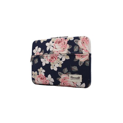 Husa Canvaslife Sleeve Compatibila Cu Laptop / Macbook 13-14 Inch Navy Roz