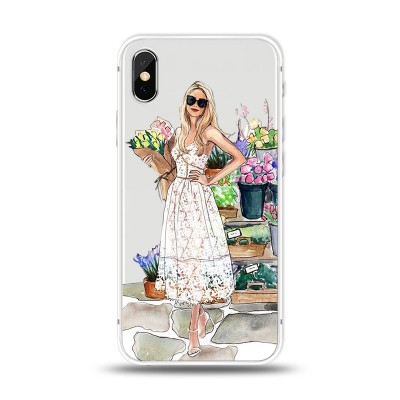 "Husa iPhone X / iPhone Xs ""FLOWERS MAKE ME SMILE"""
