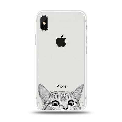 """Husa iPhone X """"CURIOUS CAT"""""""