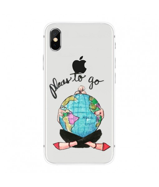 """Husa iPhone X / iPhone Xs """"PLACES TO GO"""""""