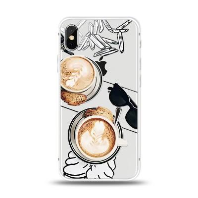 Husa iPhone X / iPhone XS Silicon Premium CAPPUCCINO LOVER