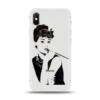 Husa iPhone X / iPhone XS Silicon Premium AUDREY HEPBURN