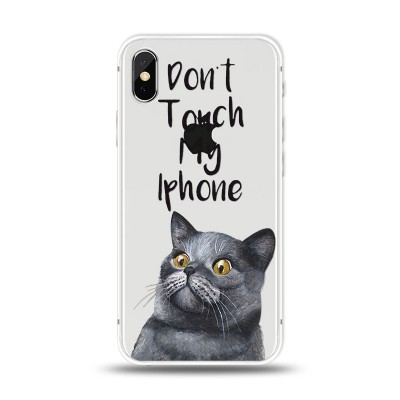 Husa iPhone X / iPhone XS Silicon Premium DON'T TOUCH MY IPHONE