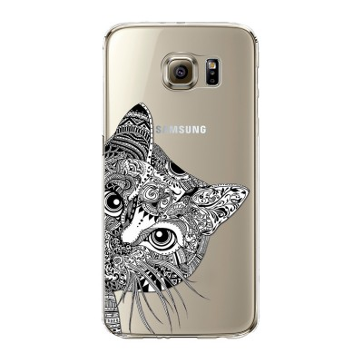 "Husa Samsung Galaxy S6 Edge Plus ""TATOO CAT"""