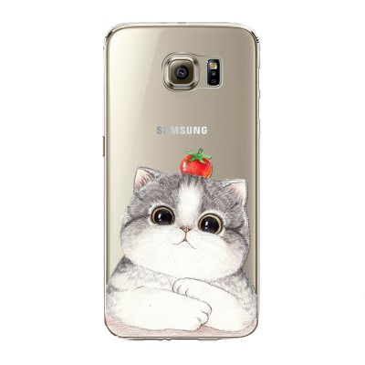 "Husa Samsung Galaxy S6 Edge ""STRAWBERRY CAT"""