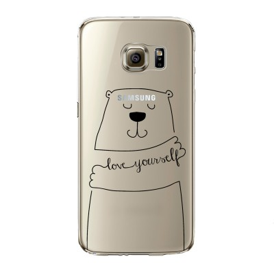 "Husa Samsung Galaxy S6 Edge ""LOVE YOURSELF"""