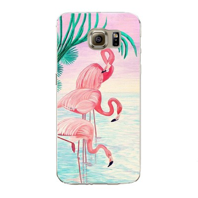 "Husa Samsung Galaxy S6 ""FLAMINGO FAMILY"""