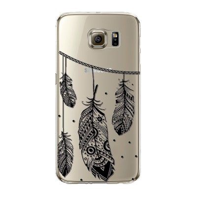 "Husa Samsung Galaxy S6 Edge ""INDIAN FEATHERS"""