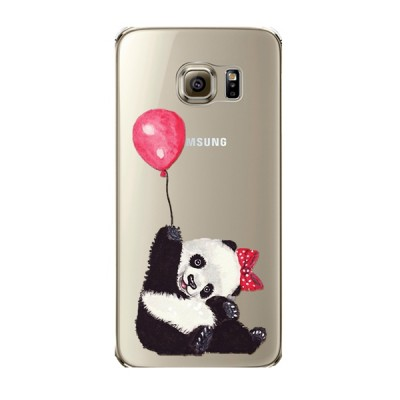 "Husa Samsung Galaxy S6 Edge ""PANDA LOVES BALLOONS"""
