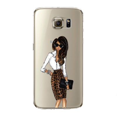 Husa Samsung Galaxy S6 Edge ANIMAL PRINT DRESS