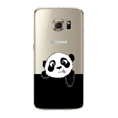 "Husa Samsung Galaxy S7 Edge ""PANDA SAYS HI"""