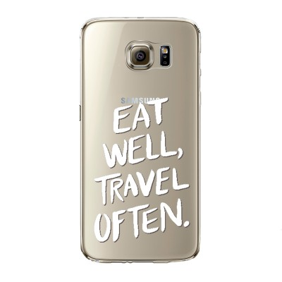 "Husa Samsung Galaxy S7 Edge ""EAT WELL, TRAVEL OFTEN"""