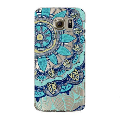 "Husa Samsung Galaxy S7 Edge ""BLUE PASTEL FLOWER"""