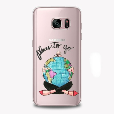 "Husa Samsung Galaxy S7 Edge ""PLACES TO GO"""