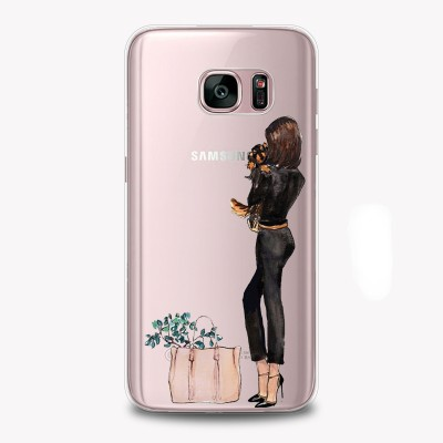 "Husa Samsung Galaxy S7 Edge ""BLACK ON BLACK"""