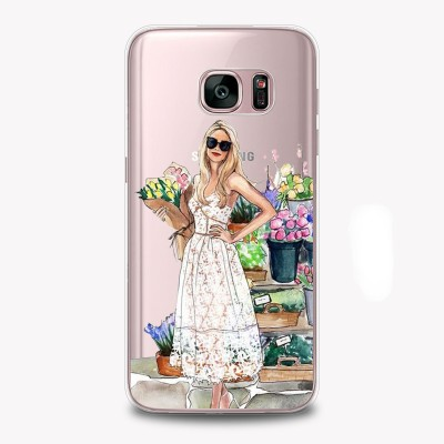 "Husa Samsung Galaxy S7 Edge ""FLOWERS MAKE ME SMILE"""