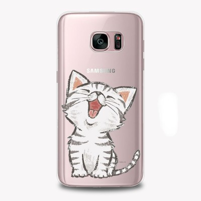 "Husa Samsung Galaxy S7 Edge ""HAPPY KITTY"""