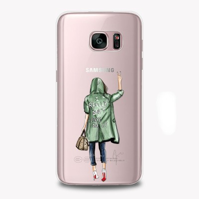"Husa Samsung Galaxy S7 Edge ""I DON'T CARE"""