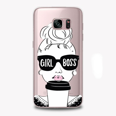 "Husa Samsung Galaxy S7 Edge ""GIRL BOSS"""