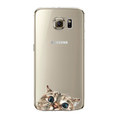 "Husa Samsung Galaxy S6 Edge ""CURIOUS CAT"""