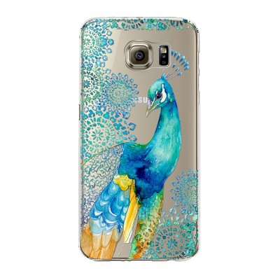 "Husa Samsung Galaxy S6 Edge Plus ""PEACOCK ELEGANCE"""