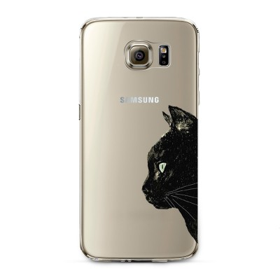 "Husa Samsung Galaxy S6 Edge Plus ""BLACK CAT PROFILE"""