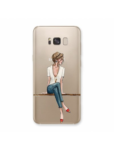 "Husa Samsung Galaxy S8 ""BLUE JEANS, WHITE SHIRT"""