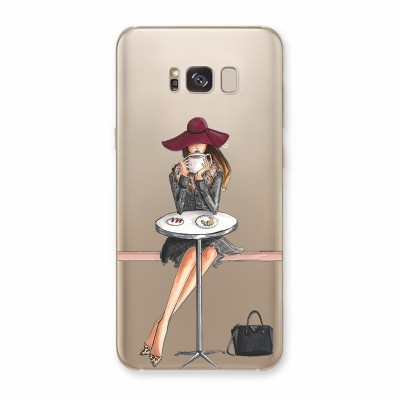 Husa Samsung Galaxy S8 Plus Silicon Premium BUT FIRST COFFEE