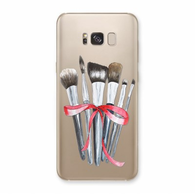 Husa Samsung Galaxy S8 Silicon Premium MAKEUP BRUSHES