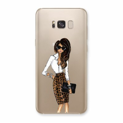 Husa Samsung Galaxy S8 Plus Silicon Premium ANIMAL PRINT DRESS