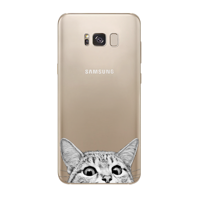 Husa Samsung Galaxy S8 Plus Silicon Premium CURIOUS CAT